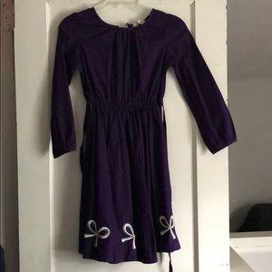 Lands end long sleeve purple dress size 7